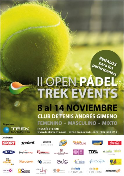 II Open pádel Trek Events