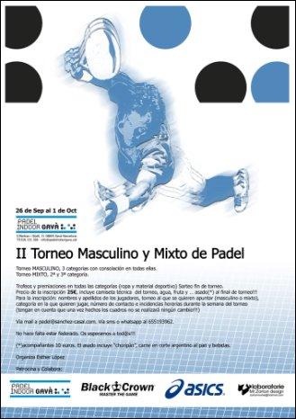 II Torneo Masculino y mixto de Padel en el Indoor de Gava