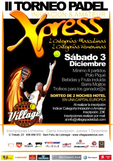 II Torneo Xpress Village Padel Club
