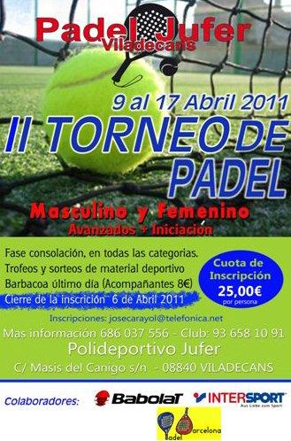 II Torneo de padel Jufer Viladecans
