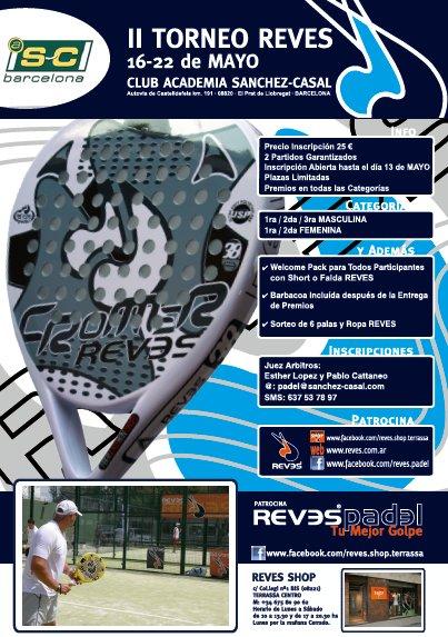 II Torneo de padel REVES en la academia Sanchez Casal