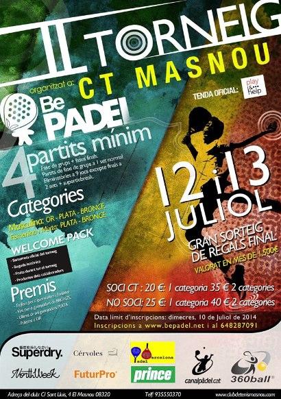 II torneo BePadel CT Masnou