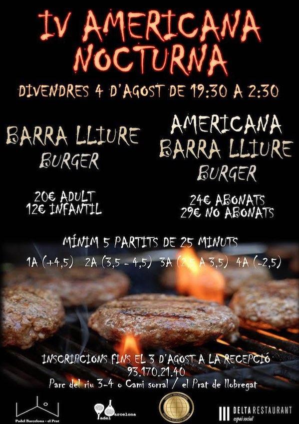 IV Americana Nocturna en Padel Barcelona el Prat
