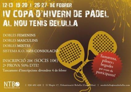 IV Copa de hinvierno de pádel en el Nou Tenis Belulla