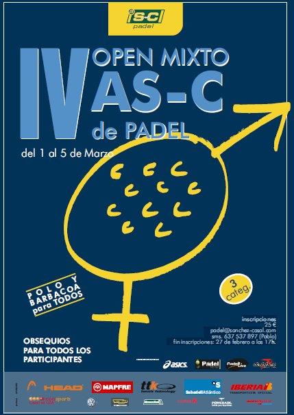 IV Open mixto AS-C de Pádel en la Academia Sánchez-Casal
