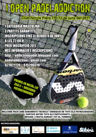 I Open PadelAddiction en el Club Tennis Piera