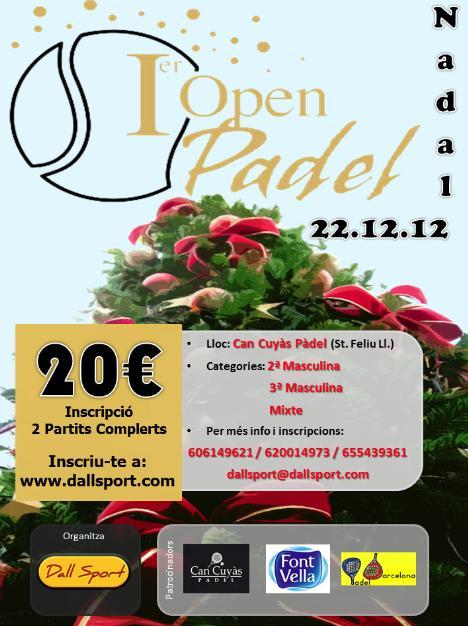 I Open Pàdel de Nadal de Dall Sport