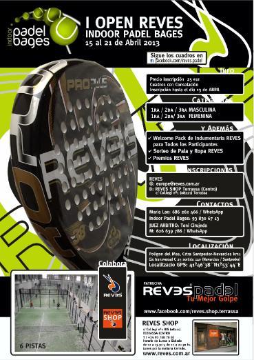 I Open REVES Indoor Padel Bages