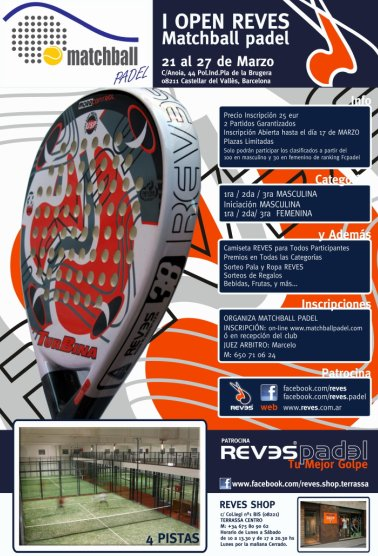 I Open Reves Matchball padel