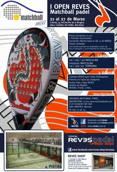 I Open Reves Matchball padel