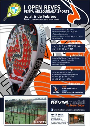 I Open Reves penya arlequinada sports