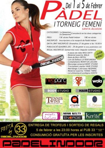 I Torneig de padel femeni en el Padel Indoor Lleida