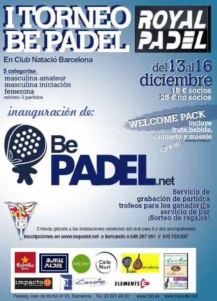 I Torneo Be Padel en el Club Natacio Barcelona