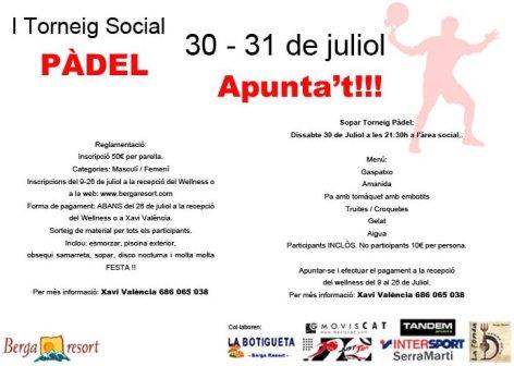 I Torneo Social de Padel Berga Resort
