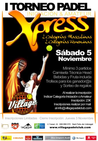 I Torneo Xpress Village Padel Club