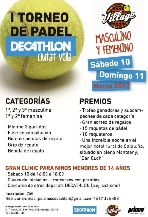 I Torneo de Padel Decathlon