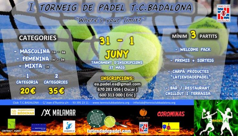 I Torneo de Padel T.C. Badalona