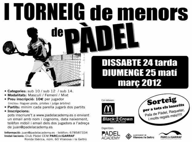 I Torneo de menores de padel Club Padel Parc del Garraf