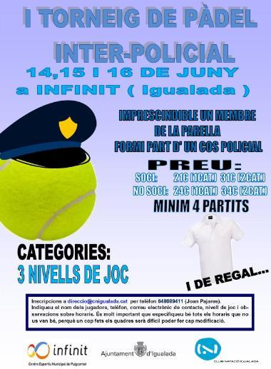 I Torneo de padel Inter-Policial