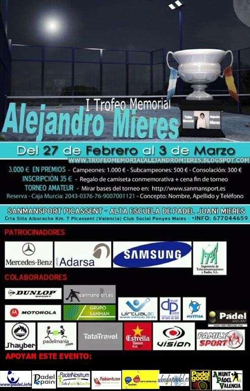 I Trofeo Memorial Alejandro Mieres