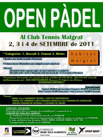 I open de padel al Club de Tennis Malgrat