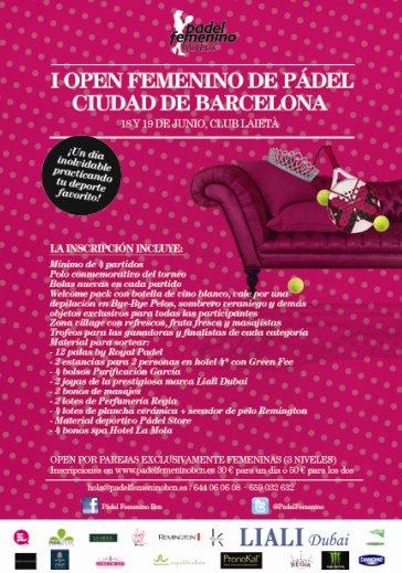 I open femenino de padel ciudad de Barcelona