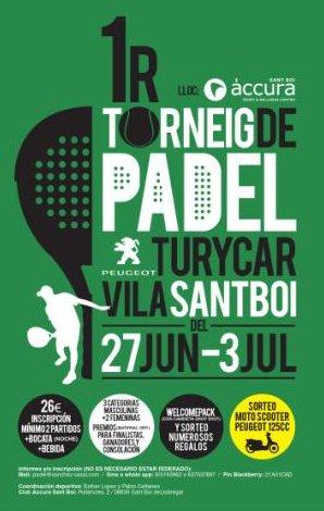 I torneo de padel Turycar en el accura Sant Boi