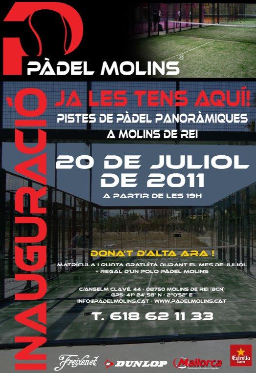 Inauguración del nuevo club Pádel Molins