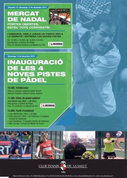 Inauguración de 4 pistas en el Club Tenis De La Salut
