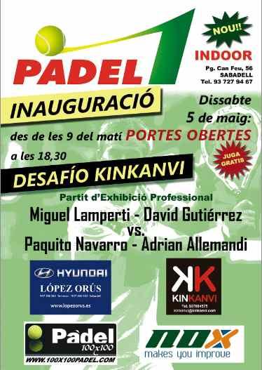 Inauguración del club Padel 1 de Sabadell