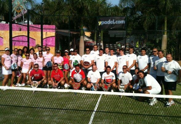 Inauguración del tropical padel club de Tenerife