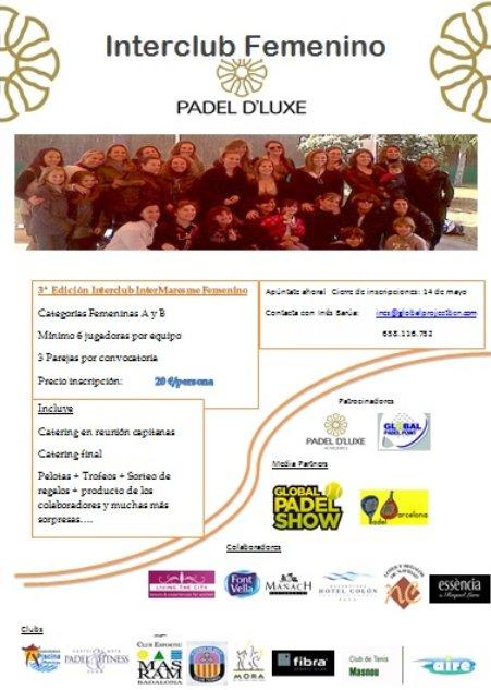 Interclub Femenino Padel d'Luxe Maresme