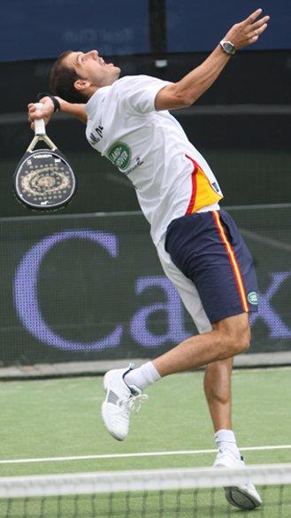 Juan Martin Diaz en el padel pro tour de Barcelona 2011