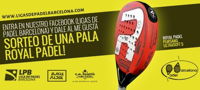 Ligas padel barcelona sortea una Royal Padel Pursang Ultrasoft 5
