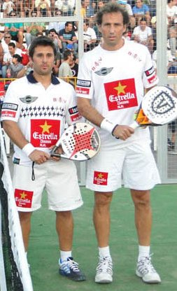 Los guerreros Hernan Auguste y Matías Diaz