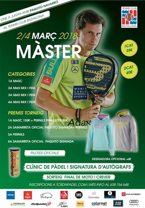 MASTER TC BDN CON PAQUITO NAVARRO
