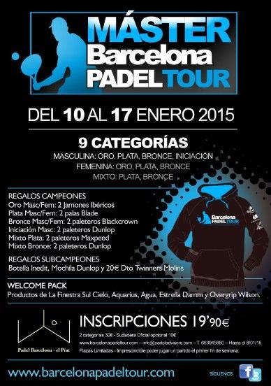Máster Barcelona Padel Tour en Padel Barcelona el Prat