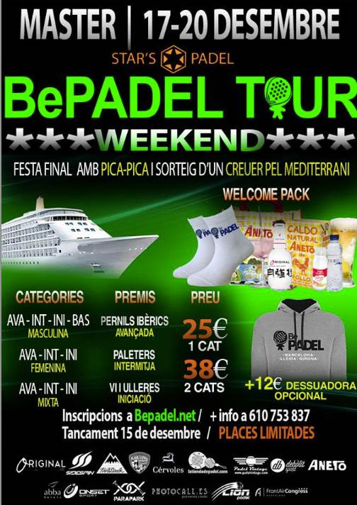 Master Bepadel Tour Weekend Barcelona