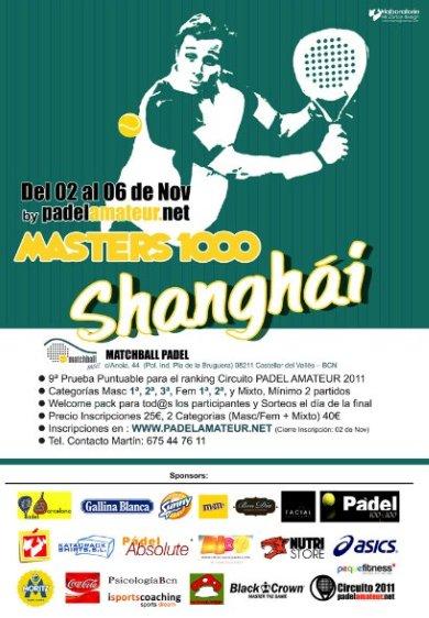 Masters 1000 de padel Abierto de Shangai en el Match Ball Padel