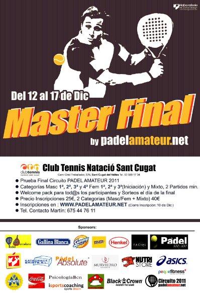 Masters Final de Ano circuito padelamateur en el Natacio Sant Cugat