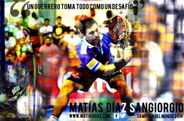 Matías Díaz Campeón del Mundo de pádel 2014