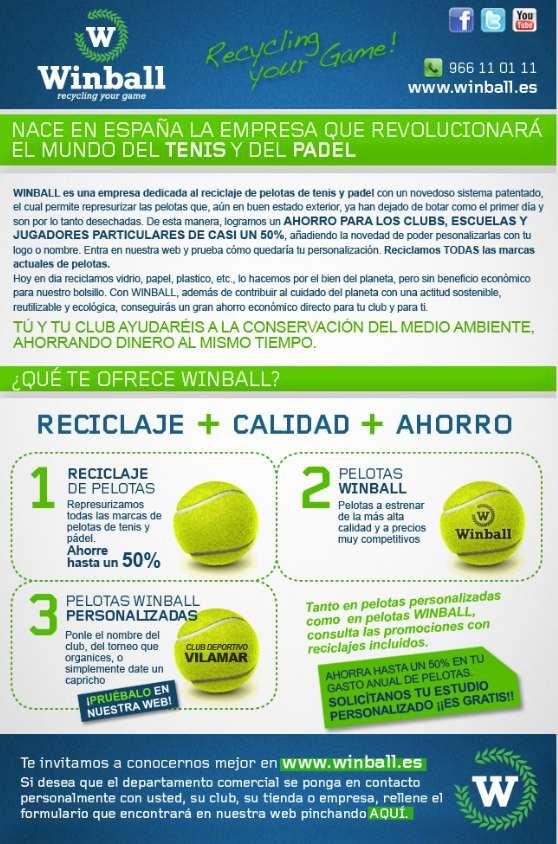 Nace Winball. La revolucion del reciclaje de pelotas de padel y el tenis