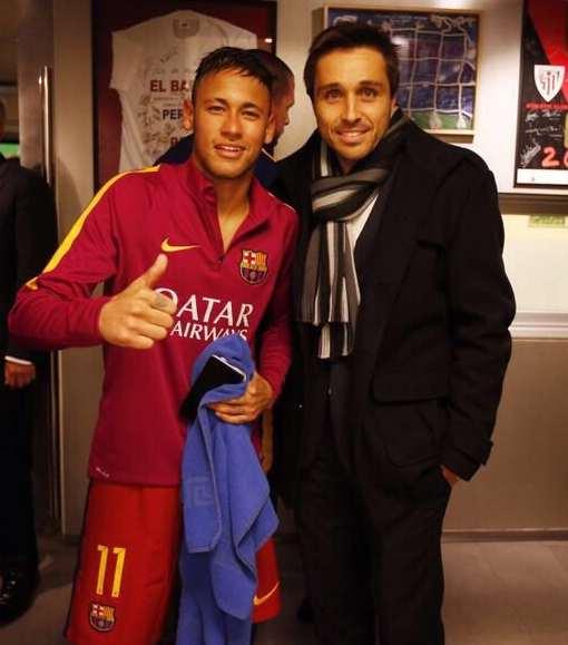 Neymar y Fernando Belasteguin