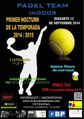 Nocturno de padel Team Indoor