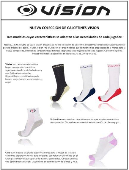 Nueva coleccion de calcetines padel Vision