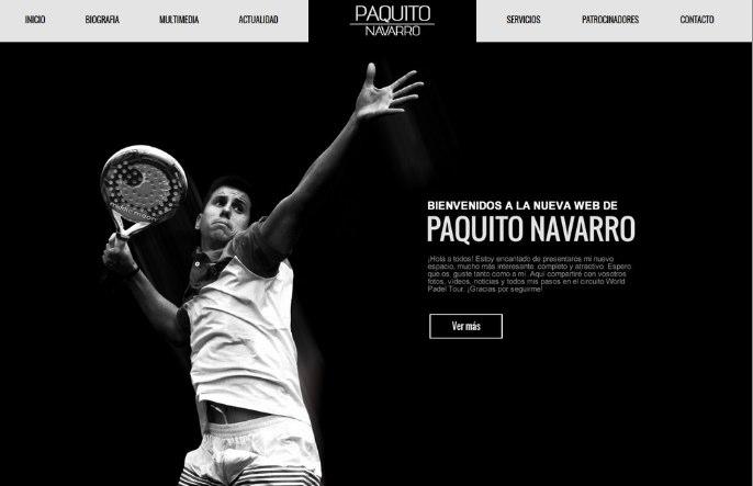 Nueva web oficial de Paquito Navarro