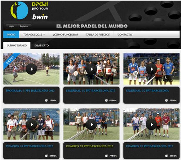Nuevo servicio para ver los partidos Padel Pro Tour