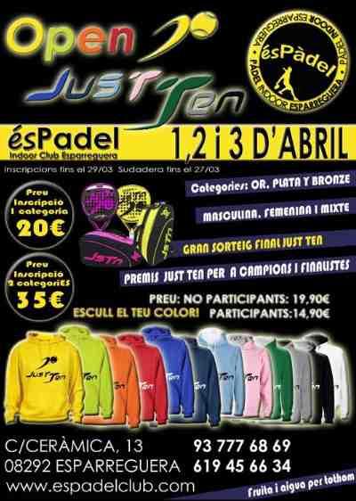 Open Justten Indoor EsPadel Esparraguera