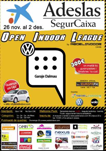 Open Indoor League en el Padelindoor de Lleida