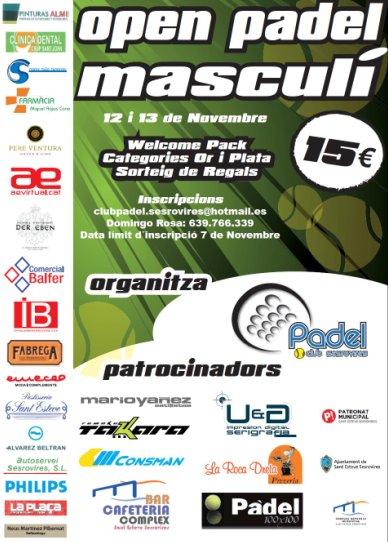 Open Padel Categoria Maculina Oro-plata en sesrovires